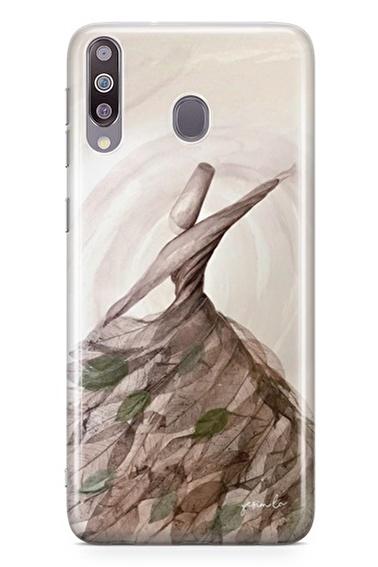 Lopard Samsung Galaxy M30 Kılıf Semazen Kapak Renkli